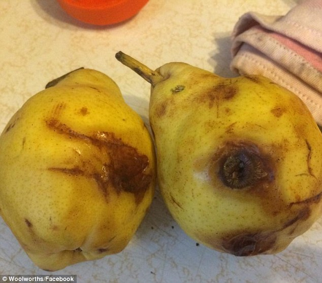 woolworths mouldy pears