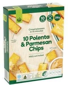 woolworths polenta parmesan chips