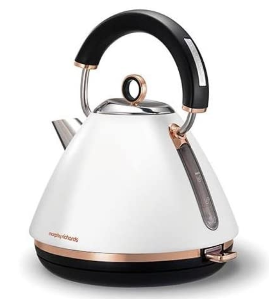 Morphy Richards White Accents Traditional Pyramid Kettle